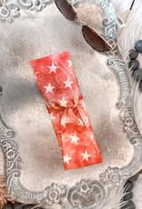 Distressed Red Stars Headband