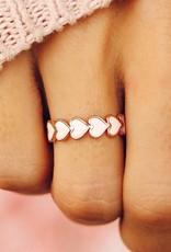 Love Hearts Band Ring