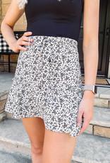 Stella Cream + Black Floral Skirt