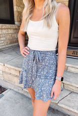 Stella Pearl Blue Floral Skirt