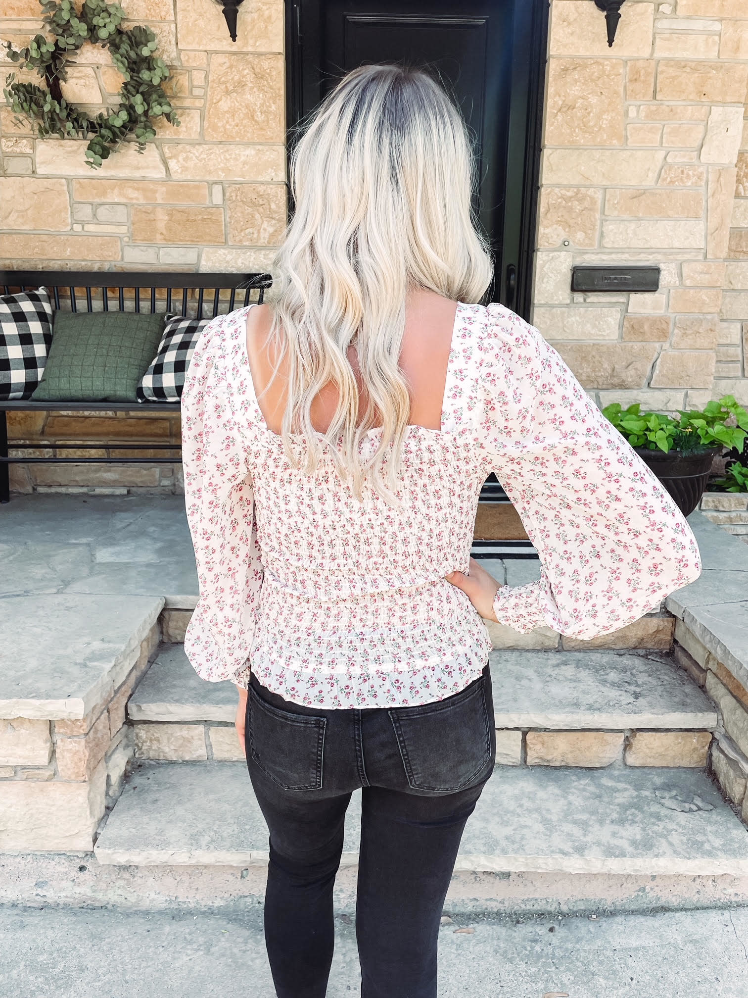 Paige Smocked Floral Blouse