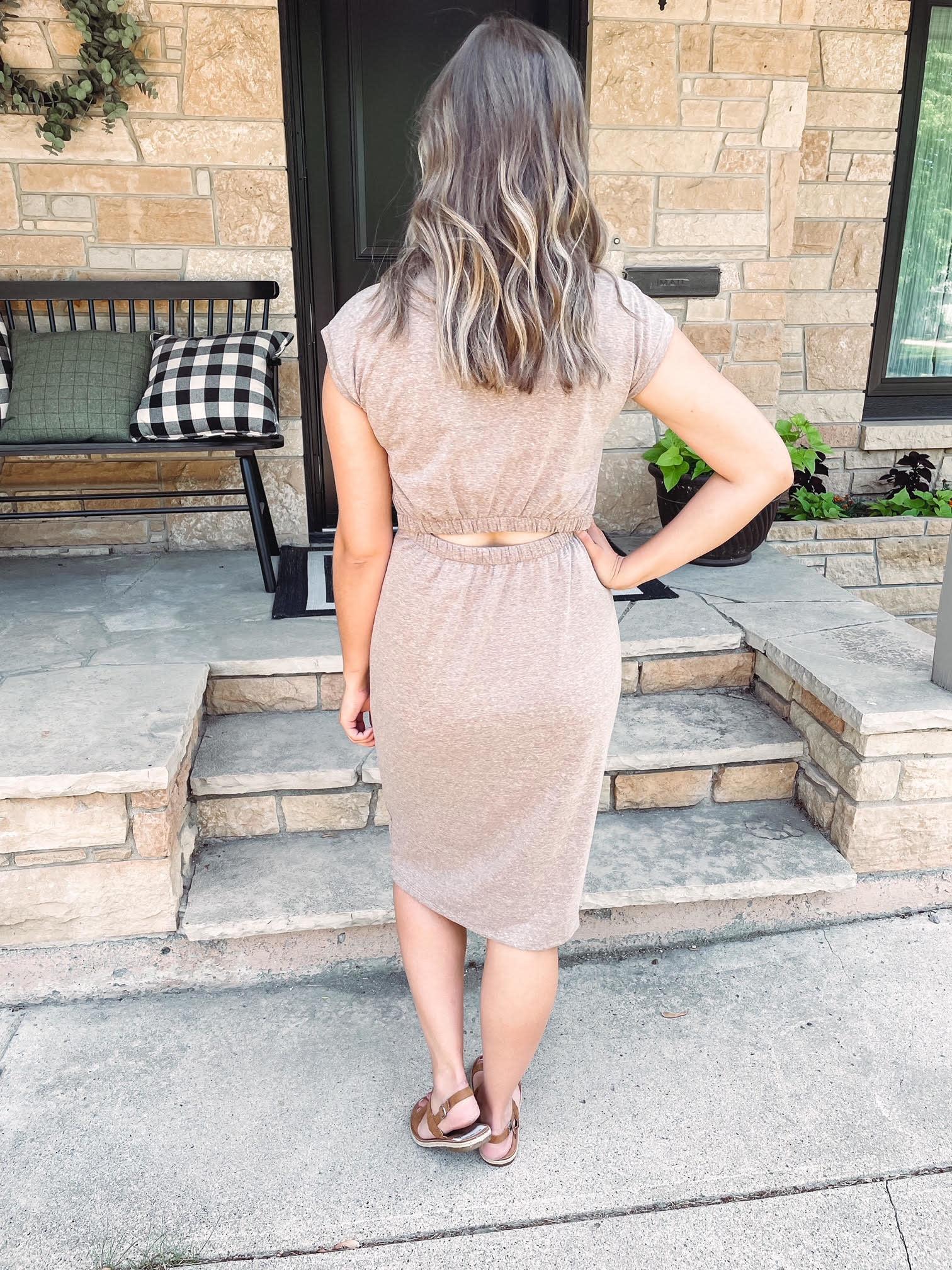 Nova Mocha Midi Dress