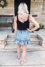 Nora Denim Ruffle Skirt