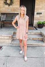 Claire Peach Spotted Dress