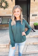 Ava Green Wrap Neck Pullover