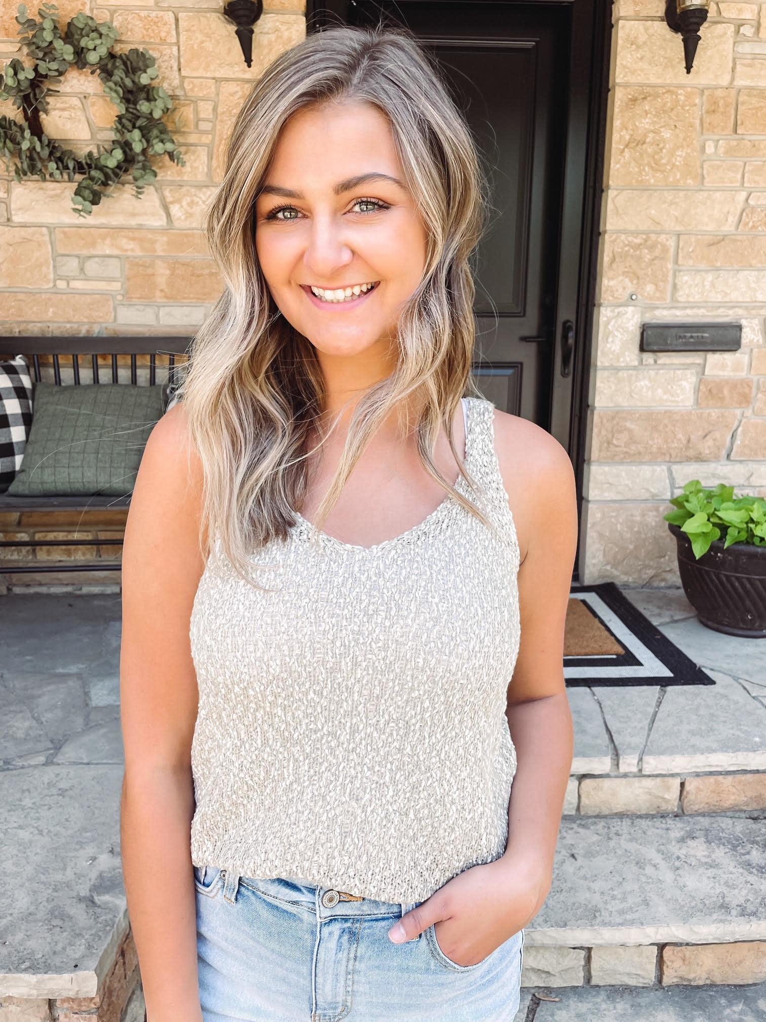 Olivia Oatmeal Sweater Tank