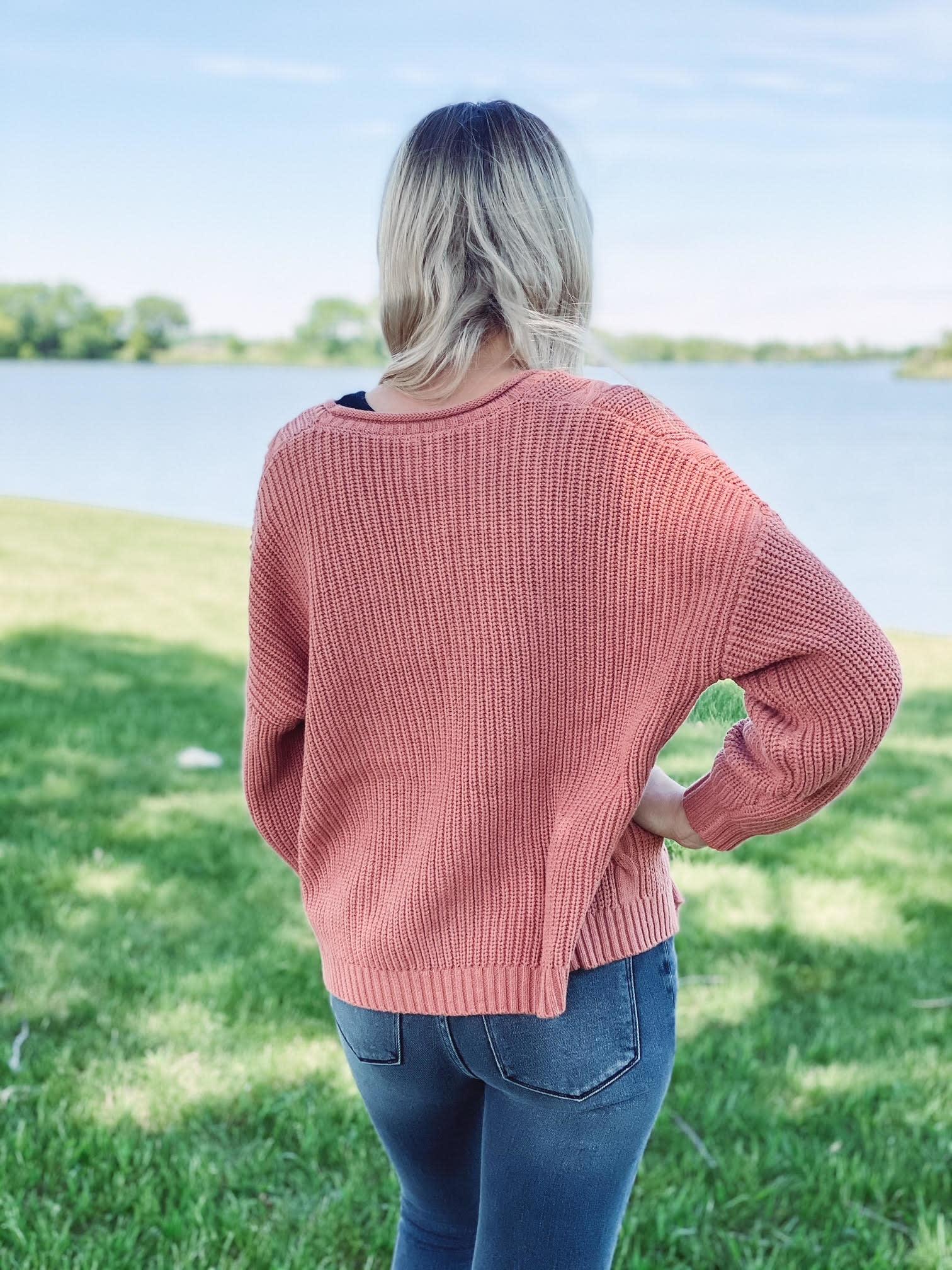Cora Copper Knit Cardigan