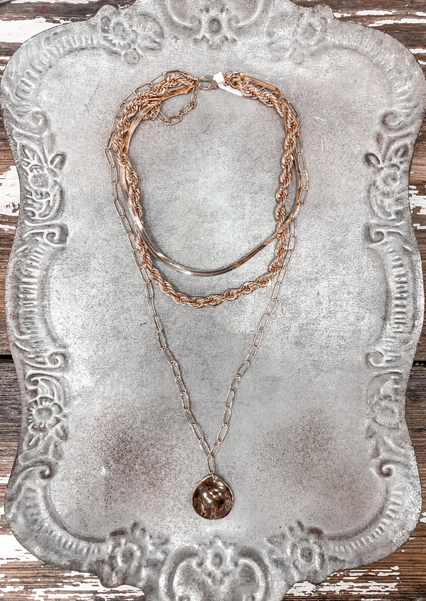 Kayley Gold Pendant Necklace