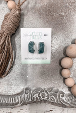 Claire Blue Resin Earrings
