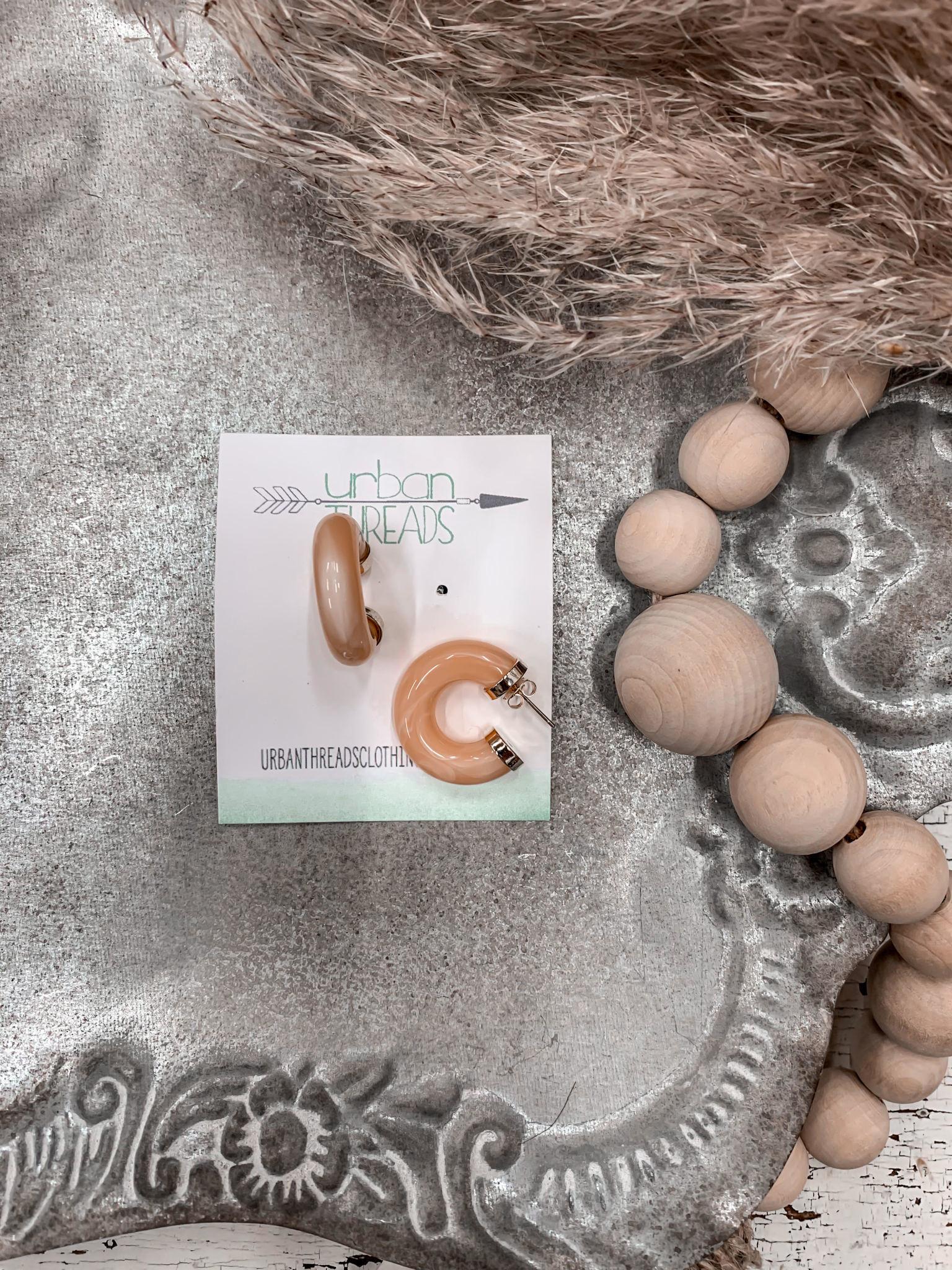 Kirsten Peach Earrings