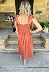 Lennyn Brick Midi Dress
