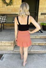 Madeline Ginger Smocked Skirt