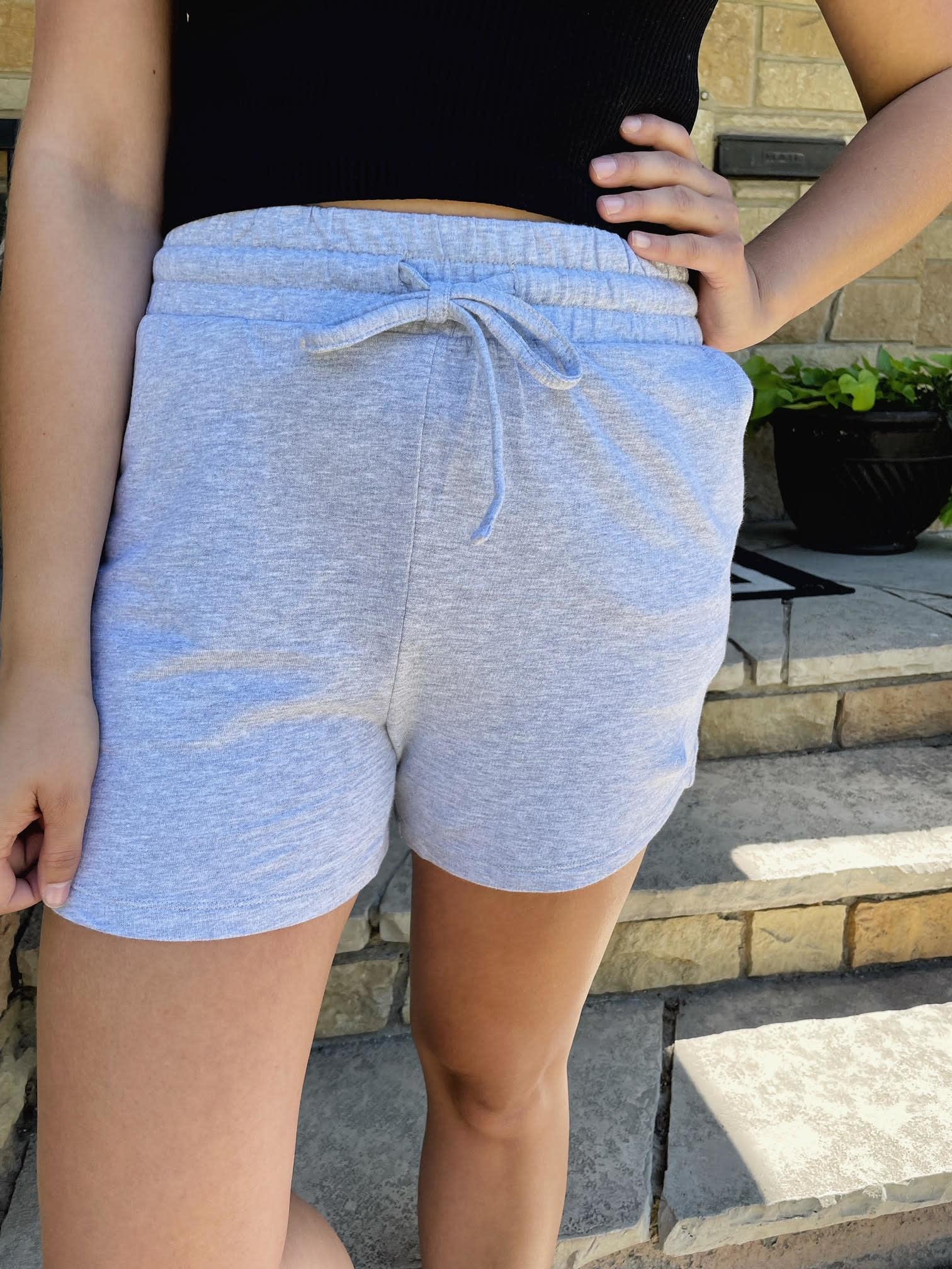 Maddie Grey Drawstring Shorts