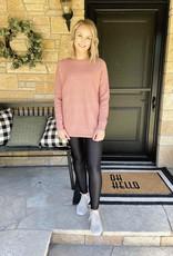 Scarlet Rose Ribbed Sweater