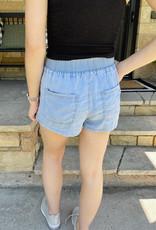 Emma Light Blue Smocked Shorts