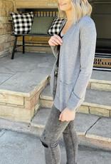 Lola Grey Pocket Cardigan