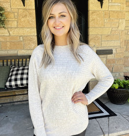 Scarlet Oatmeal Ribbed Sweater