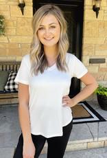 Paige Cream V-Neck