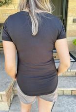 Paige Graphite V-Neck