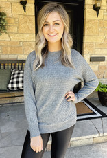 Scarlet Charcoal Ribbed Sweater