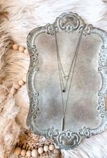Kara Silver Layered Necklace