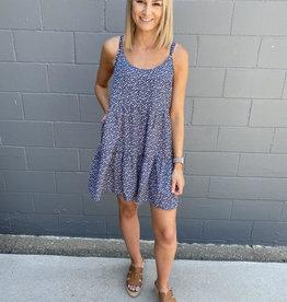 Zora Blue Animal Print Dress