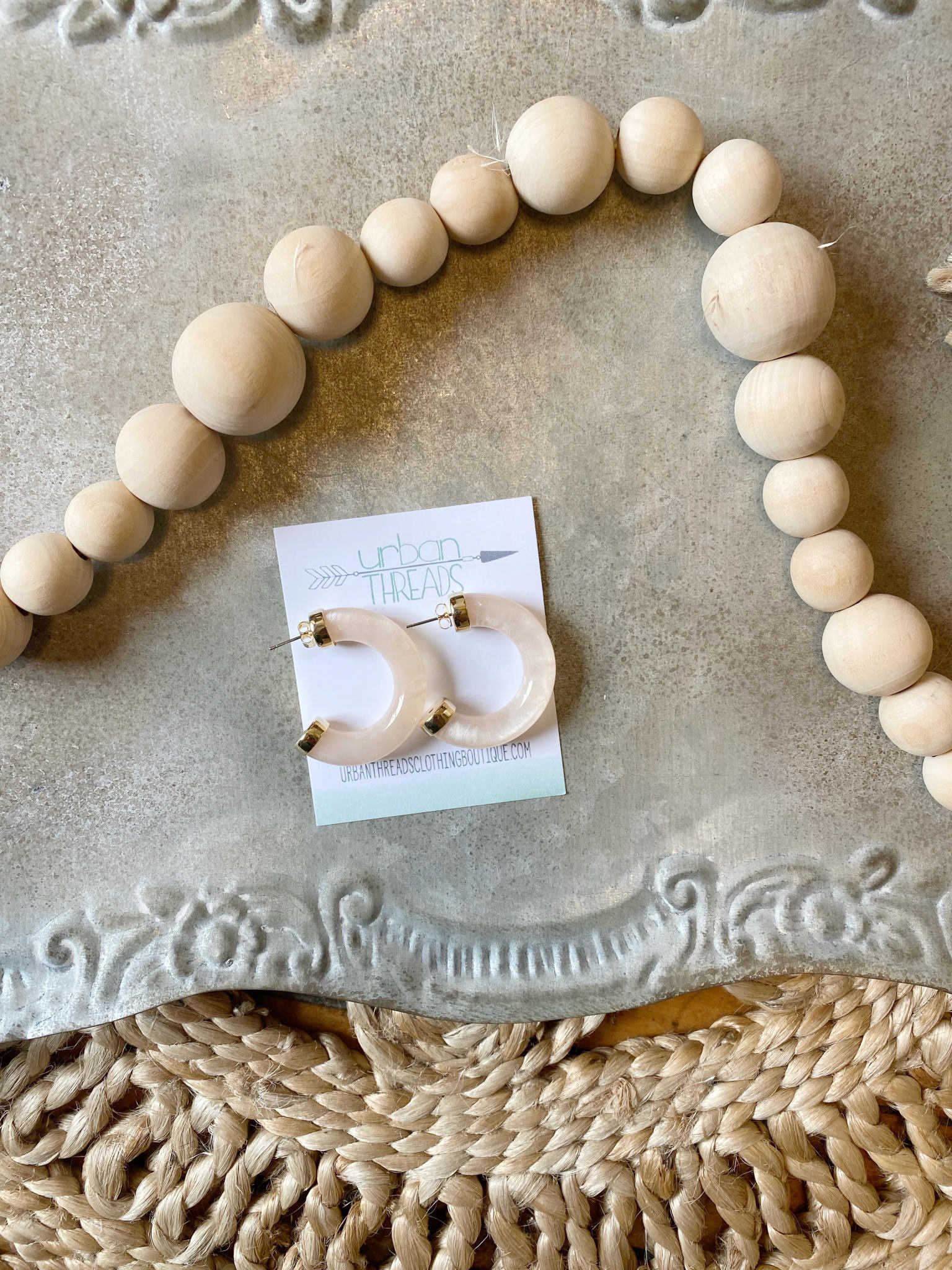 Chloe Ivory Earrings