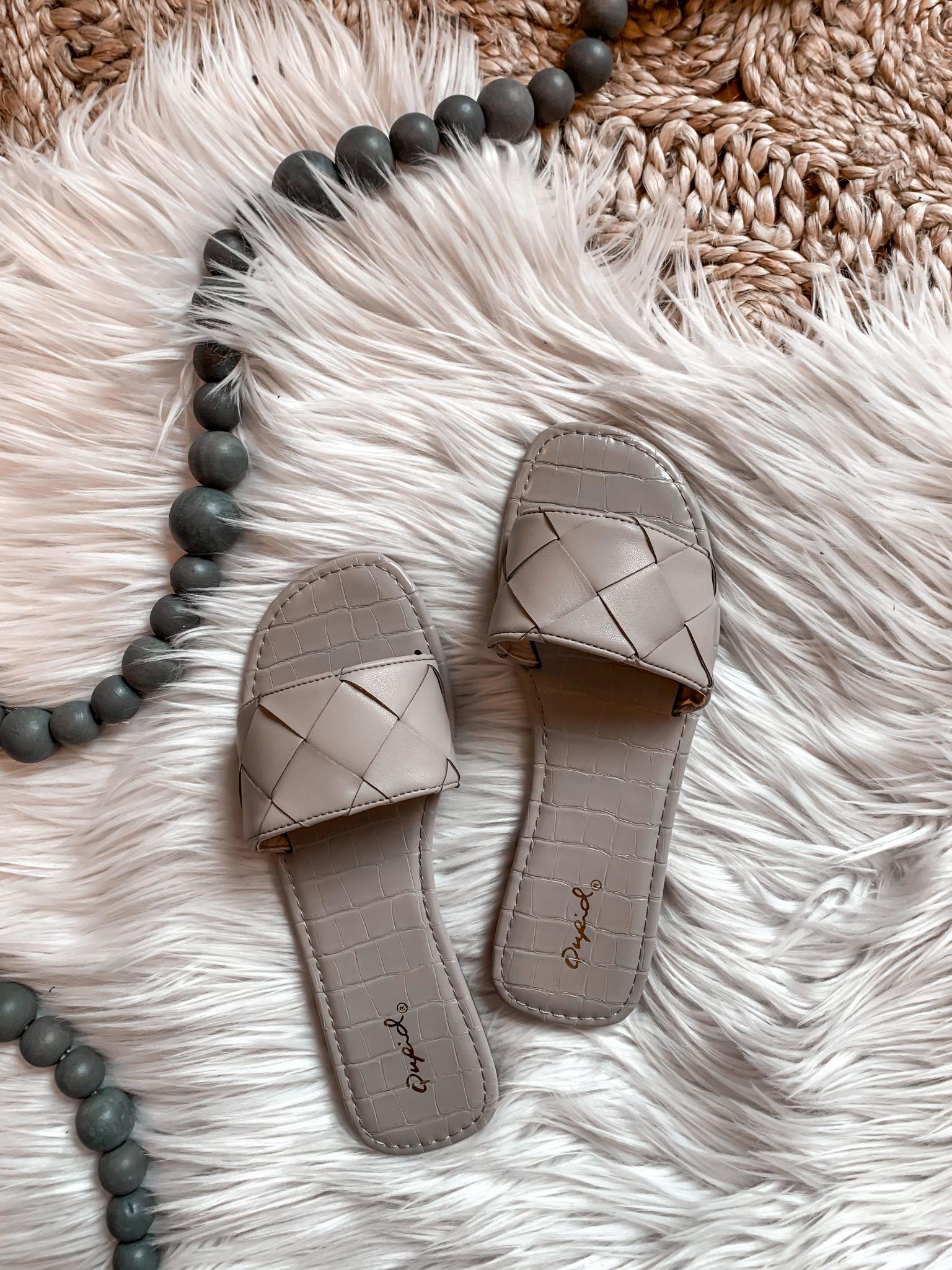 Laurel Grey Braided Sandal