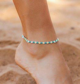 PuraVida Daisy Seed Bead Anklet