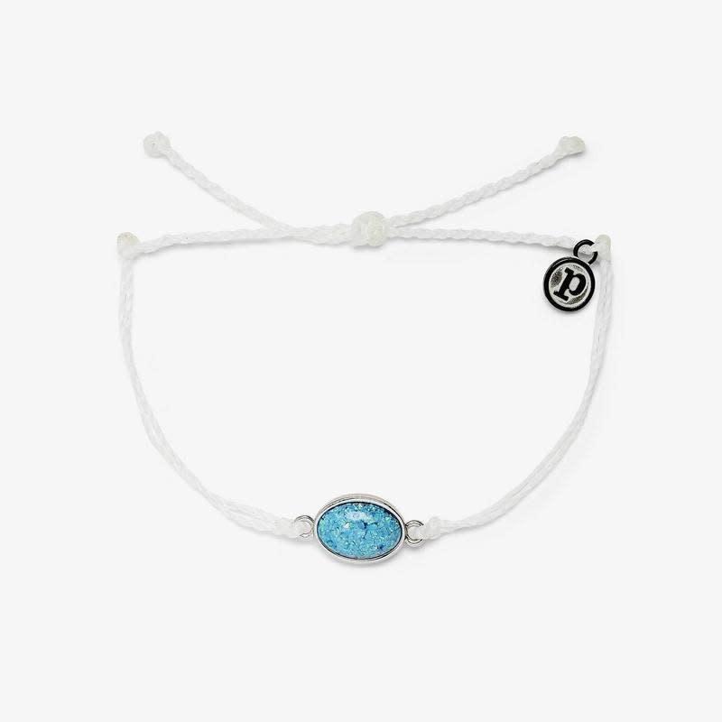 PuraVida Opal Charm Silver Bracelet