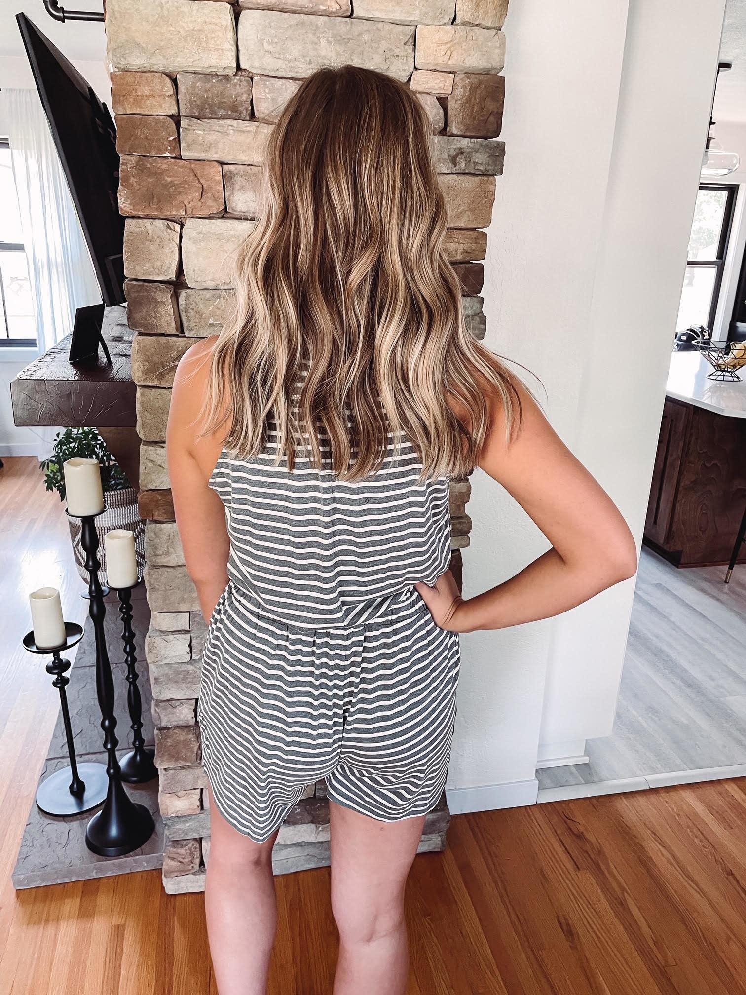 Kendra Striped Romper