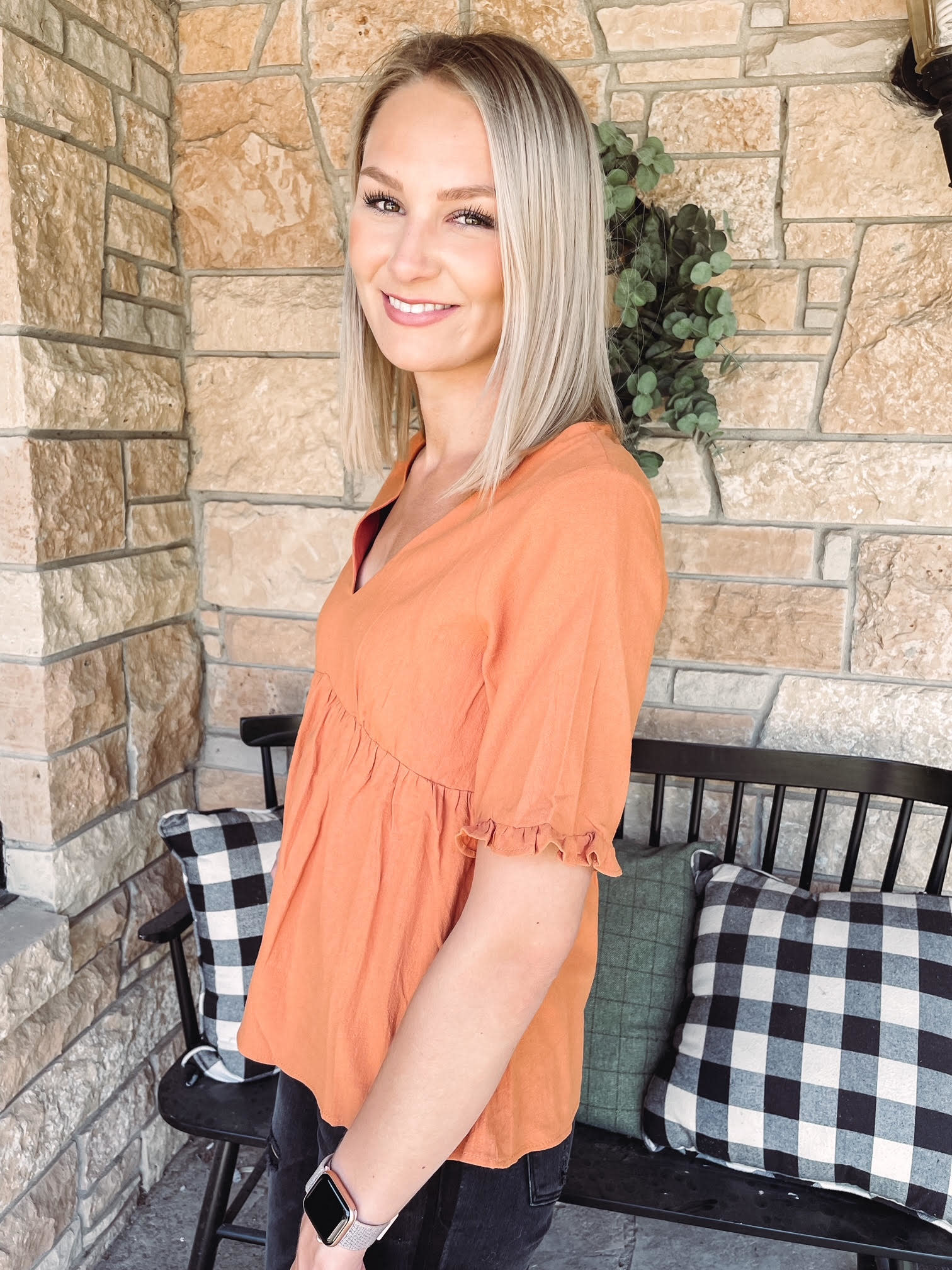 Kelsey Amber Babydoll Top