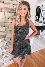 Zora Black Animal Print Dress