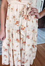 Kasi Peach Floral Dress