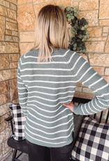 Lennox Sage Striped Sweater