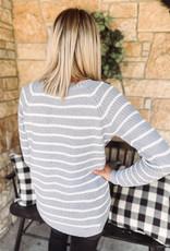Lennox Light Grey Striped Sweater