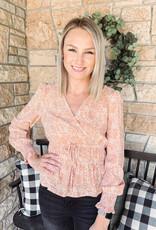 Alyssa Peach Spotted Blouse