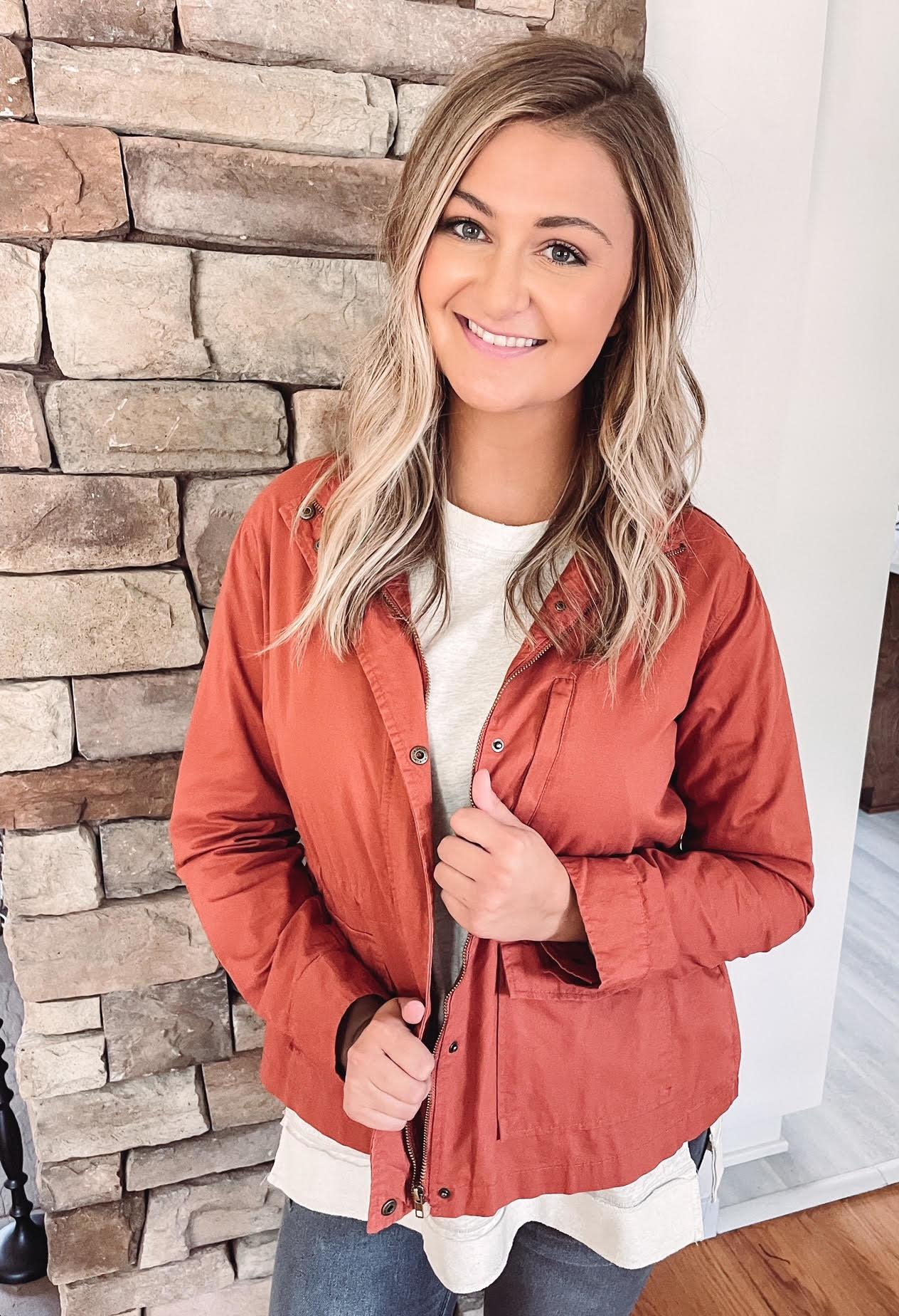 Lucy Rust Utility Jacket