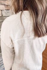 Ashlyn Oatmeal Side Slit Sweatshirt