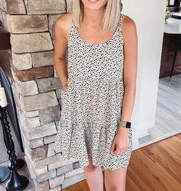 Zora Cream Animal Print Dress