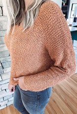 Millie Butter Rum Knotted Sweater