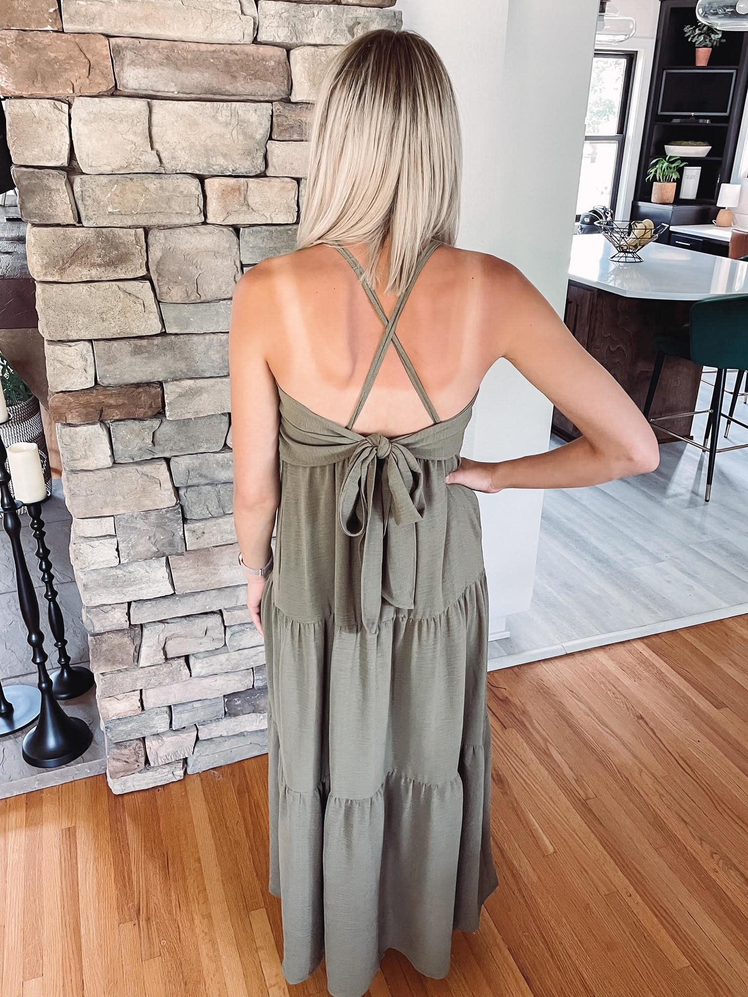Kerissa Olive Maxi Dress