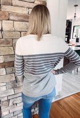 Sierra Grey Striped Top