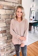 Jayda Cappuccino Waffle Knit Sweater