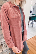 Eve Ginger Corduroy Reversible Jacket