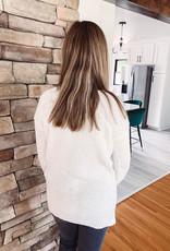 Amelia White Waffle Knit Sweater