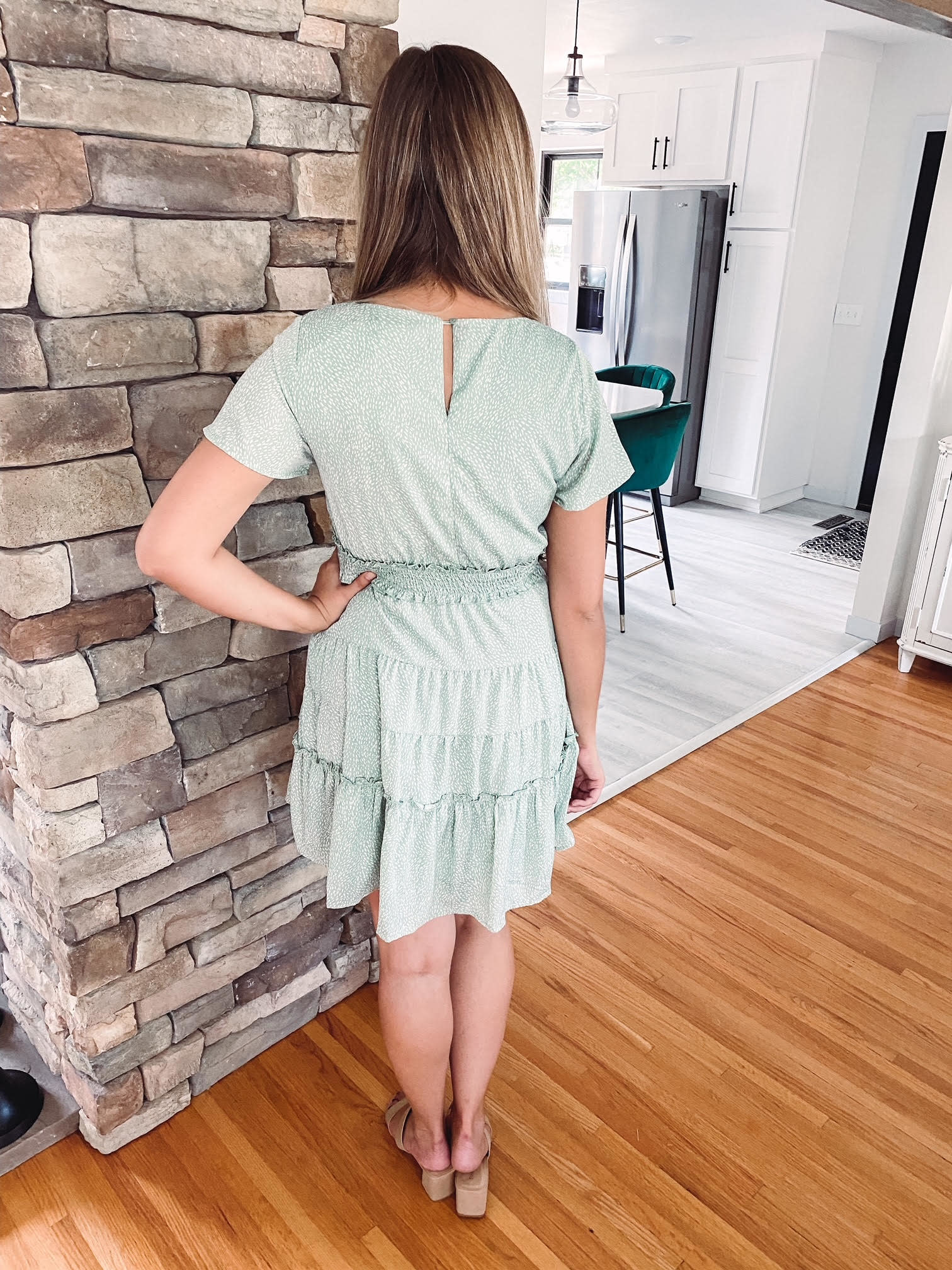 Lydia Sage Spotted Dress