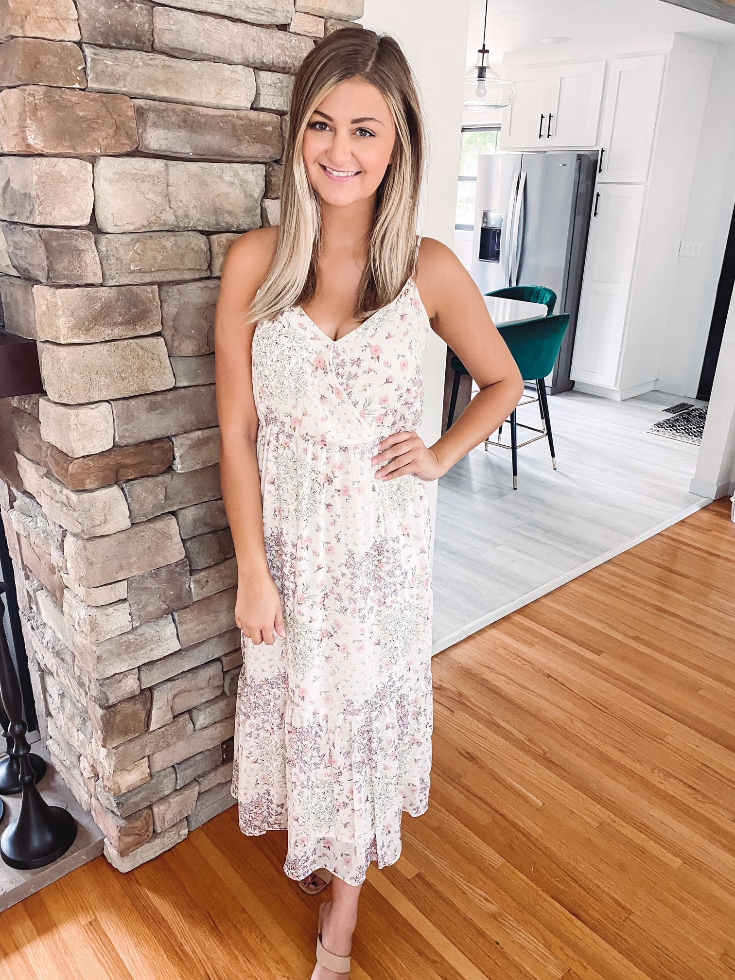 Jasmine Ivory Floral Dress