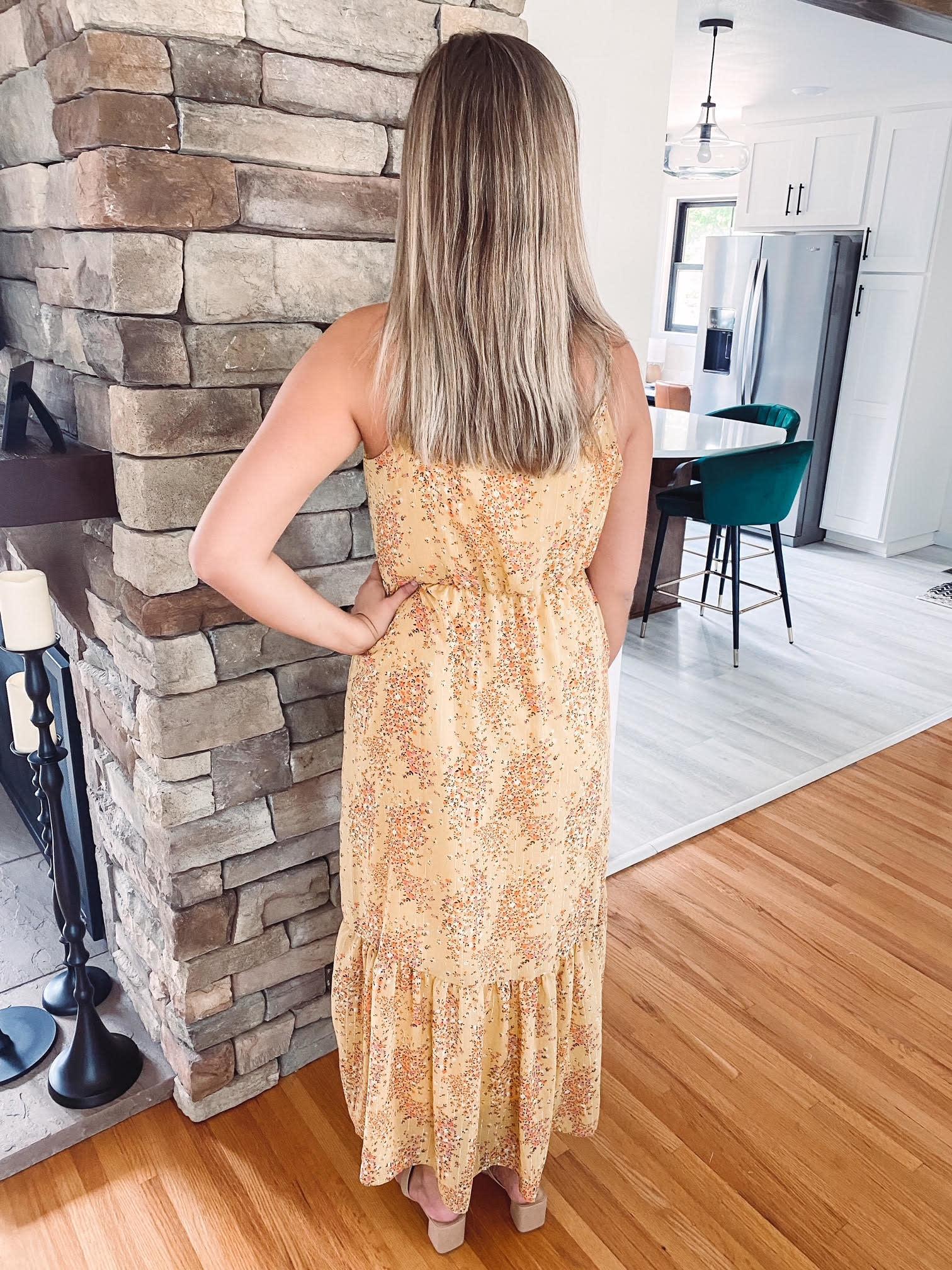 Jasmine Yellow Floral Dress