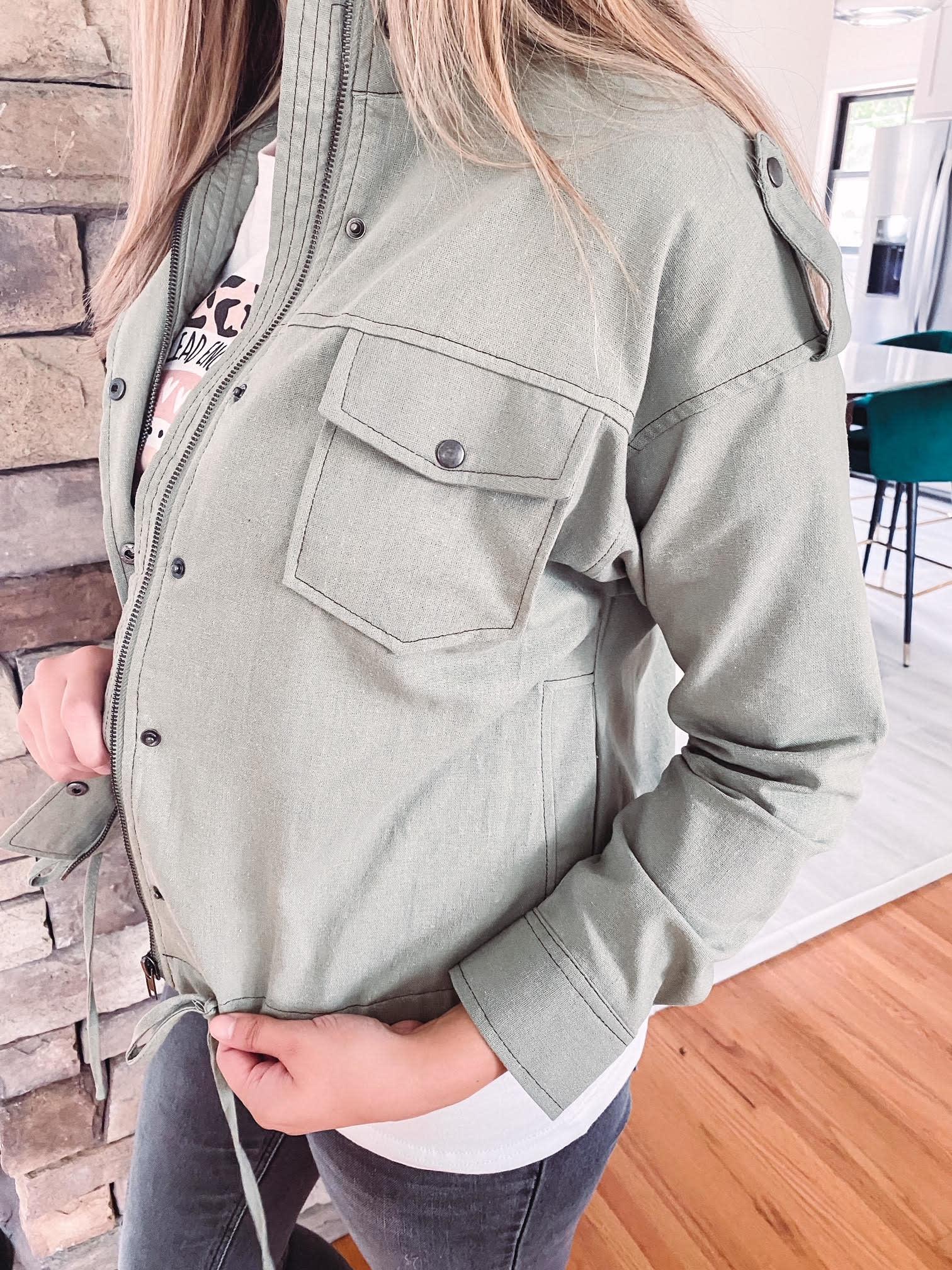 Susie Light Olive Jacket